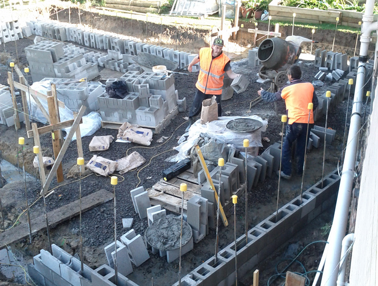 footing construction